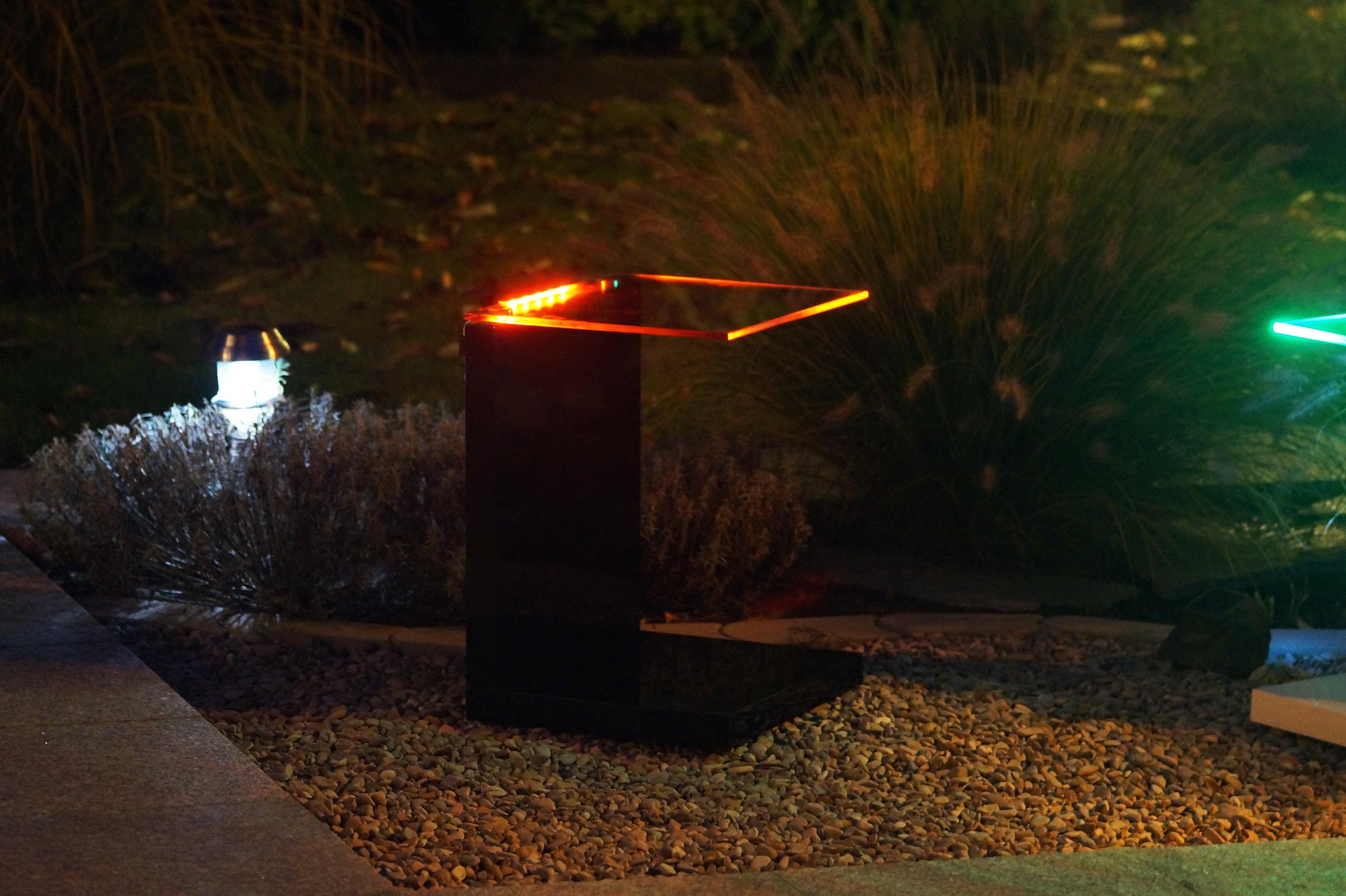 led rgb tisch glastisch beistelltisch wohnzimmertisch kabellos d angelo lights. Black Bedroom Furniture Sets. Home Design Ideas